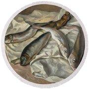 Still Life Of Fish, 1928 Round Beach Towel