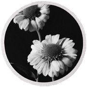 Still Life Of Flowers Round Beach Towel