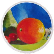 Still Life Painting Round Beach Towel