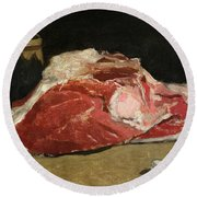 Still Life The Joint Of Meat Round Beach Towel