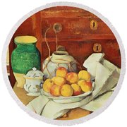 Still Life With A Chest Of Drawers Round Beach Towel