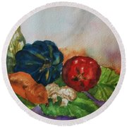 Still Life With Bottle Round Beach Towel