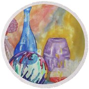 Still Life With Witching Ball Round Beach Towel