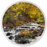 Still River Rapids Round Beach Towel