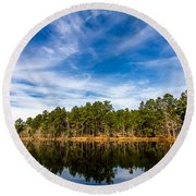 Still Water Round Beach Towel