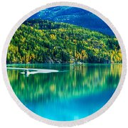 Stillness On The Kenai Round Beach Towel