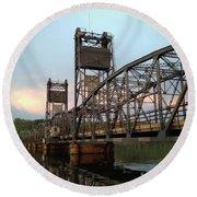 Stillwater Lift Bridge Round Beach Towel