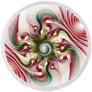 Stimulation Round Beach Towel by Anastasiya Malakhova