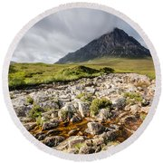 Stob Dearg Mountain Round Beach Towel