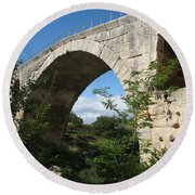 Stone Arch Of Pont St. Julien Round Beach Towel