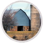 Stone Barn Round Beach Towel