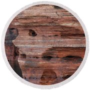 Stone Faced Round Beach Towel