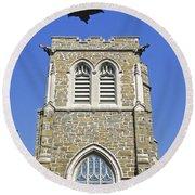 Stone Gothic Church Round Beach Towel