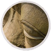 Stone Idol Round Beach Towel