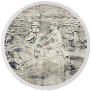 Stone Mountain Georgia Confederate Carving Round Beach Towel