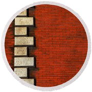 Stone On Brick Round Beach Towel