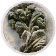 Stone Ornament 2 Round Beach Towel