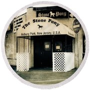 Stone Pony Round Beach Towel by Colleen Kammerer