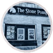 Stone Pony Cool Side View Round Beach Towel