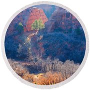 Stone Quarry At Red Rocks Open Space Round Beach Towel