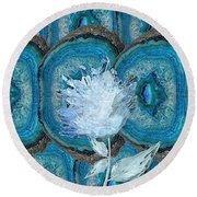 Stone Rose Round Beach Towel