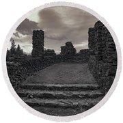 Stone Ruins At Old Liberty Park - Spokane Washington Round Beach Towel