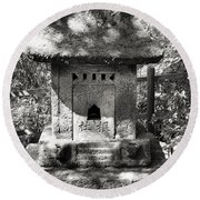 Stone Shrine Round Beach Towel