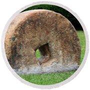 Stone Wheel Round Beach Towel