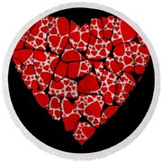 Stoned In Love Round Beach Towel