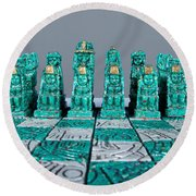 Stoned On Chess Round Beach Towel