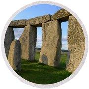 Stonehenge And Shadows Round Beach Towel
