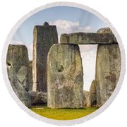 Stonehenge Panorama Round Beach Towel