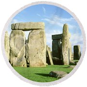 Stonehenge, Wiltshire, England, United Round Beach Towel