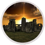 Stonehenge Wiltshire Uk Round Beach Towel