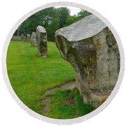 Stones At Avebury Round Beach Towel