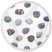 Stones Round Beach Towel