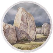 Stones Of Castlerigg Round Beach Towel