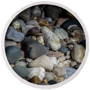 Stones On Beach Round Beach Towel
