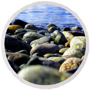 Stones To Admire Round Beach Towel