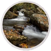 Stony Creek Falls Round Beach Towel