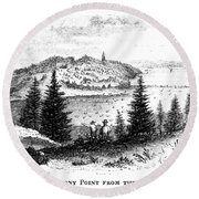 Stony Point, New York Round Beach Towel