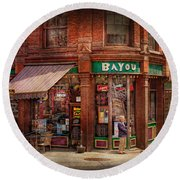 Store - Albany Ny -  The Bayou Round Beach Towel
