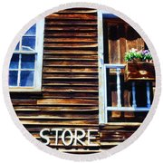 Storefront Rustic Round Beach Towel