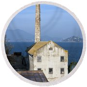 Storehouse Alcatraz Island San Francisco Round Beach Towel