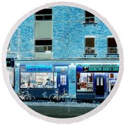 Stores On Ossington In Blue Round Beach Towel