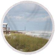 Storm Andrea Round Beach Towel