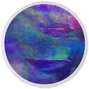 Storm Boats Round Beach Towel