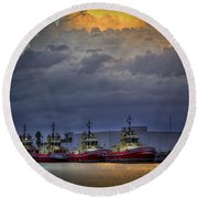 Storm Brewing Round Beach Towel by Marvin Spates