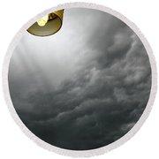 Storm Clouds 2am-113933 Round Beach Towel