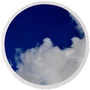 Storm Clouds At Night Round Beach Towel